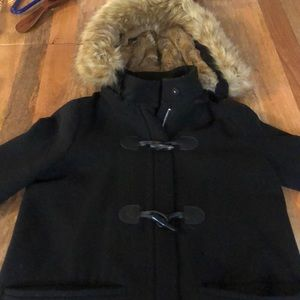 Zara Wool Coat with Removable Fur Lined Hood